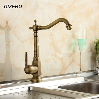 Kitchen hot can cold Mixer Antique Copper Finish 360 Swivel Rotation Spout Basin Sink Mixer Tap torneira ZR101