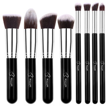 BESTOPE 8PCS Makeup Brushes Set Kabuki Eyeshadow Blending Brush Powder Foundation Eyebrow Lip Eyeliner Brush Cosmetic Tool Kit