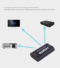 Projector Universal TV or PC Display HDMI Repeater 40M HDMI 40 Meter Signal Amplifier Female to Female hdmi connector Support 4K link mi ex29 hdmi signal amplifier repeater