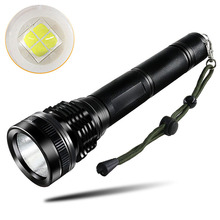 PANYUE 2PCS LED Tactical Flashlight Torch XHP50 High Power 5000 Lumens Aluminum Powered by 2* 18650 Battery