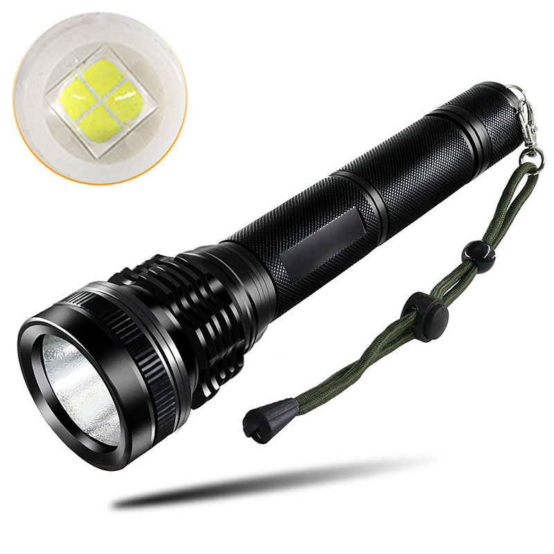 PANYUE 2PCS LED Tactical Flashlight Torch XHP50 High Power 5000 Lumens LED Aluminum Flashlight Torch Powered by 2* 18650 Battery