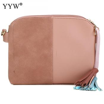 Hit Color Pu Leather Tassels Shoulder Clutch Bag For Women 2018 Trendy Ladies Purse Women Crossbody Shoulder Messenger Bags