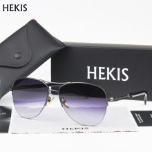 HEKIS Brand Men's Sun Glasses fashion Mirror Driving Sunglasses Oculos masculino Male Eyewear Accessories For Men Women B2748