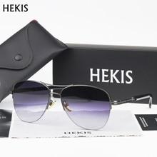 HEKIS Brand Men's Sun Glasses fashion Mirror Driving Sunglasses Oculos masculino Male Eyewear Accessories For Men Women B2748