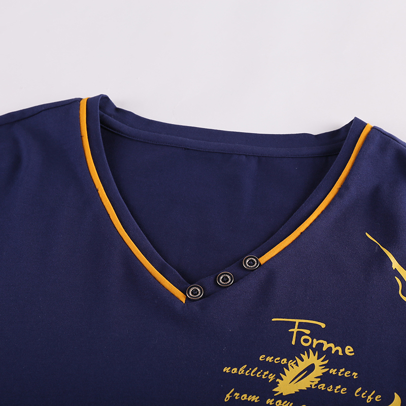 T Coton 4xl 5xl Printemps 2018 Marque 1 Patchwork Manches V Hommes T Tops Nouveau Col Shirt 10xl À Vêtements shirt 2 6xl 8xl Tee Longues Été 8q11xtI