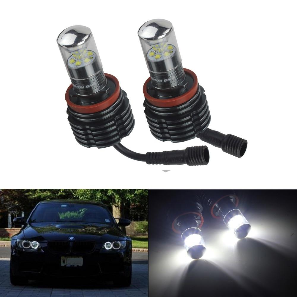ANGRONG LED 60W Angel Eye Halo Light H8 Bulb For BMW E61 X5 E70 X6 E71