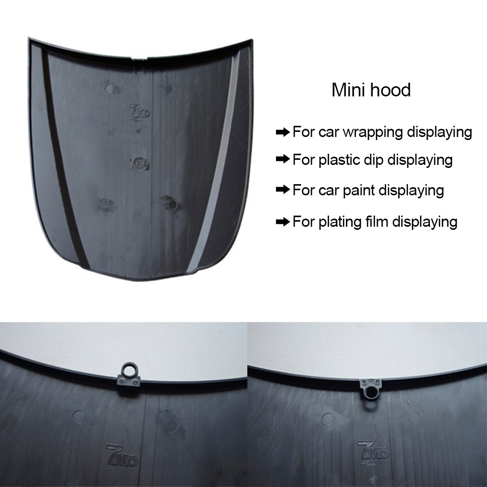 Image 4 - 26*30cm Plastic Mini Hood Car Bonnet Vinyl Display Model Custom Paint Sample Speed Shape With Painted MO 179S 1-in Car Stickers from Automobiles & Motorcycles