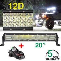 CO свет 20 дюймов 480 W светодиодный свет бар 12D комбо светодиодный фонарь для лодки автомобиль тягач 4x4 ATV авто для вождения светодиодная балка д