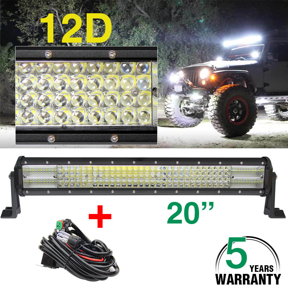 CO LIGHT 20 Inch 480W LED Light Bar 12D Combo Led Beams for Boat Car Tractor Truck 4x4 ATV Auto Driving Offroad Led Bar 12V 24V