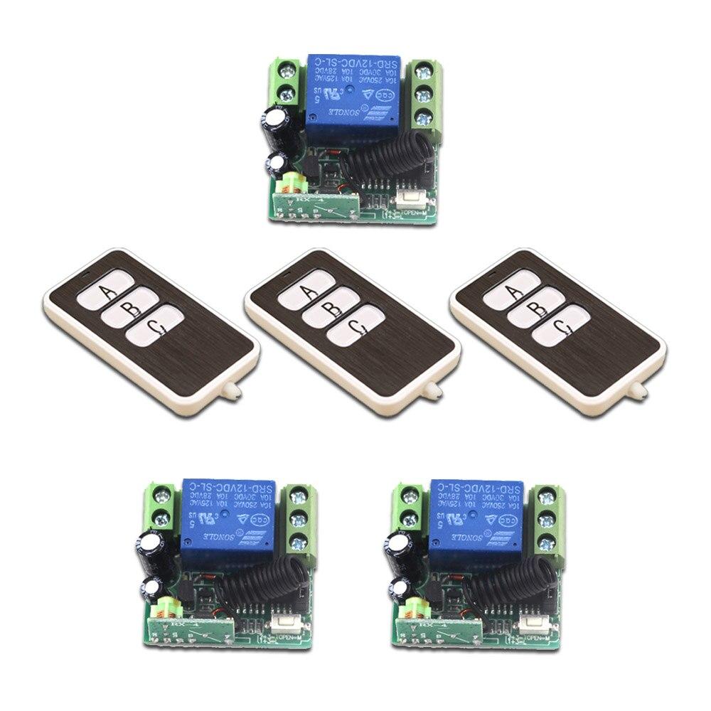 Puerta de Control Remoto DC12V Mini 315/433 MHz Sistema de Control Remoto Inalám