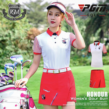 PGM Women Golf Clothing Sets Short Sleeve T-shirt + Breathable Shorts Ladies Breathable Anti-sweat Golf Apparel D0750 цена