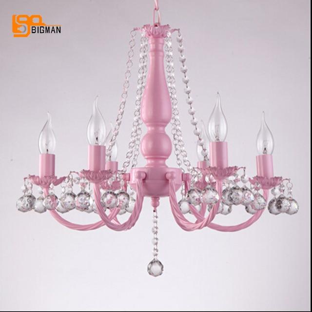 US $253.8 10% OFF|Neue design rosa kronleuchter kristall beleuchtung glanz  kristall leuchten kronleuchter kinderzimmer lampe in Neue design rosa ...