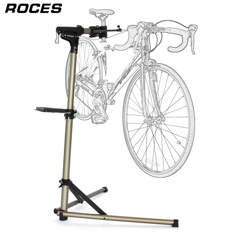 Alliage d'aluminium vélo réparation Stand professionnel vélo réparation outils réglable pli vélo support étagères stockage vélo réparation Stand
