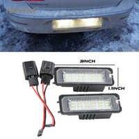 2 uds. LIBRE DE ERRORES LED número de matrícula luz para VW Volkswagen EOS 06 GOLF 4/5/6/7 LUPO 99 06 06 Passat CC 09 Beetle 2006-2010