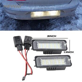 2 unids piezas de luz de matrícula LED sin errores para VW Volkswagen EOS 06 GOLF 4/5/6/7 LUPO 99 06 Passat CC 09 Beetle 2006-2010