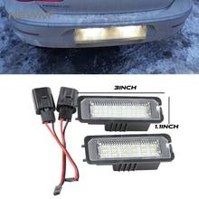 лучшая цена 2PCS Error Free LED Number License Plate Light for VW Volkswagen EOS 06~ GOLF 4/5/6/7 LUPO 99~06 Passat CC 09~ Beetle 2006-2010