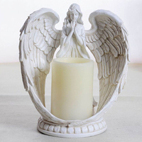 Европейский ангел подсветодио дный свечник СВЕТОДИОДНЫЕ Свечи Креативные смолы Ремесла день рождения свечи держатели ароматические свечи...