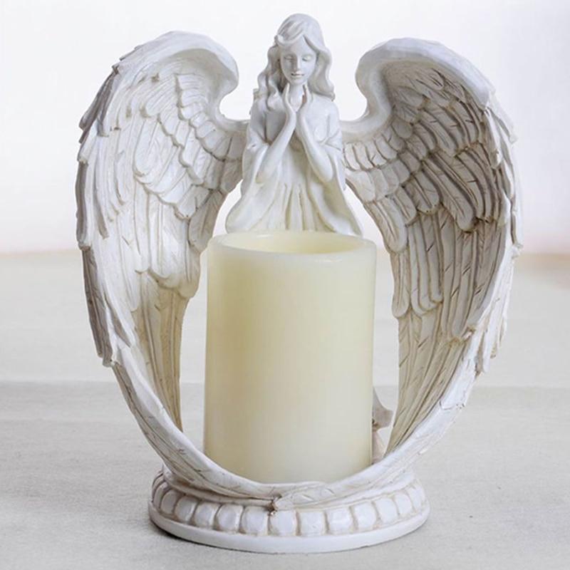 Bougeoir ange européen bougie Led résine créative artisanat anniversaire bougies détenteurs bougies parfumées bougies cire cadeau décor à la maison