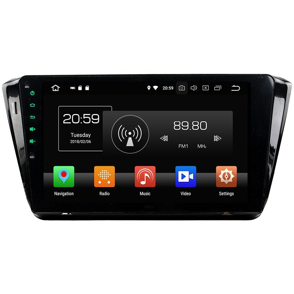 Octa Core 4GB RAM 32GB ROM Android 8.0 1Din Car radio MP3 player Bluetooth hands-free Bluetooth for Skoda Superb 2015