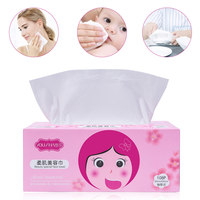 YOUSHA 108PCS Organic Facial Tissue Cosmetic Cotton Pads Plus Size Facial Cleaning Pad Makeup Remover Wipes