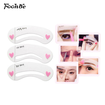 3 Pieces/pack Durable Eyebrow Stencil Eyes Makeup Clear Eye Brow Drawing Template Assistant Card Brow Shaping Model for Beginner