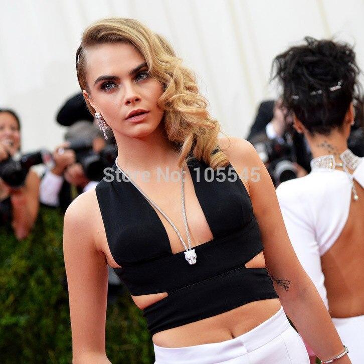 996c3197512948 2015 New strap Kim Kardashian Ladies black red white deep V neck Fashion  Knitted Bandage Crop Tops