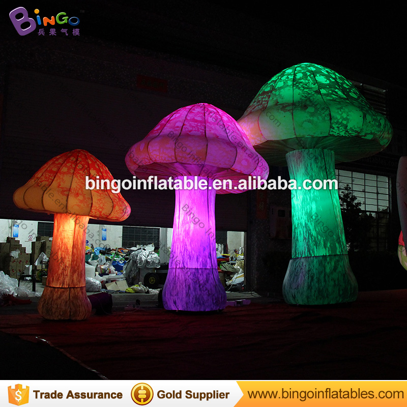 3m/10ft High giant inflatable mushroom with LED lights, outdoor inflatable lighting decoration mushroom for party / event romatic inflatable light ivory for event and party decoration