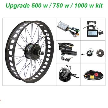 스노우 전자 자전거 키트 48 v 모터 지방 ebike 4.0 타이어 500 w-1000 w ebike 키트