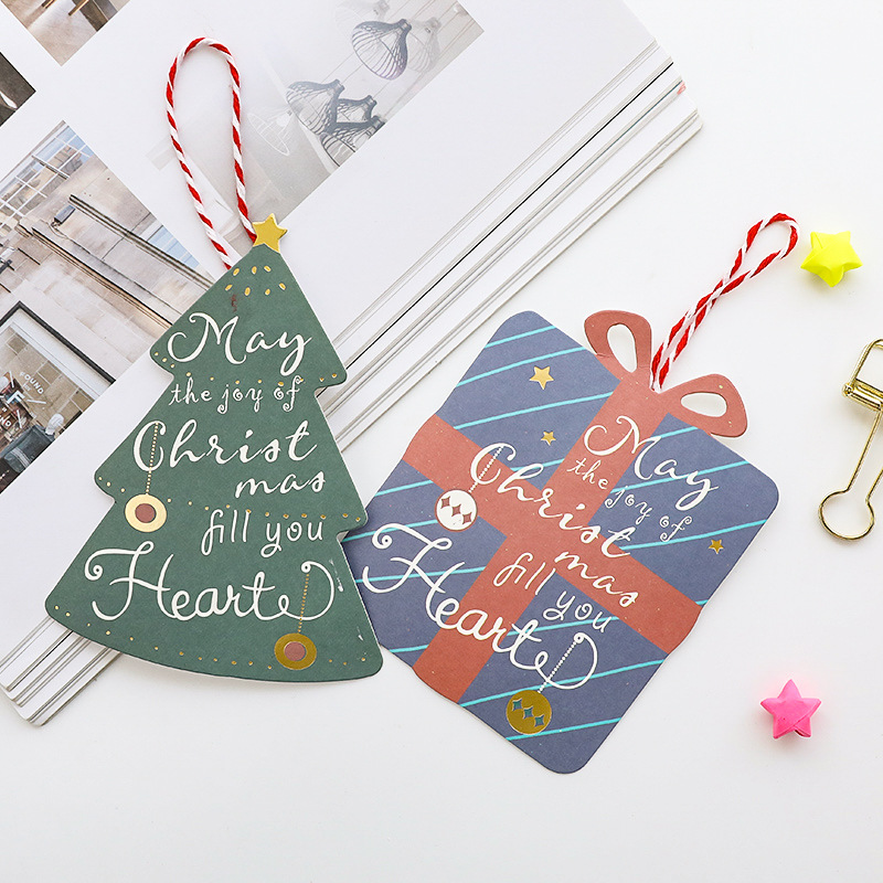 4pcs/set Christmas Cards with Envelope Gift Message Cards for Kids ...