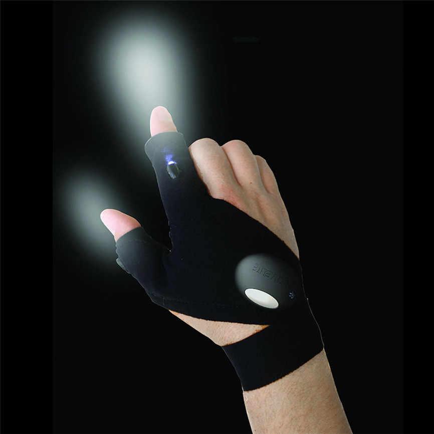 Перчатка ночного света для рыбалки, перчатка для ночной рыбалки, светодиодный светильник, водонепроницаемые спасательные инструменты, уличная Экипировка