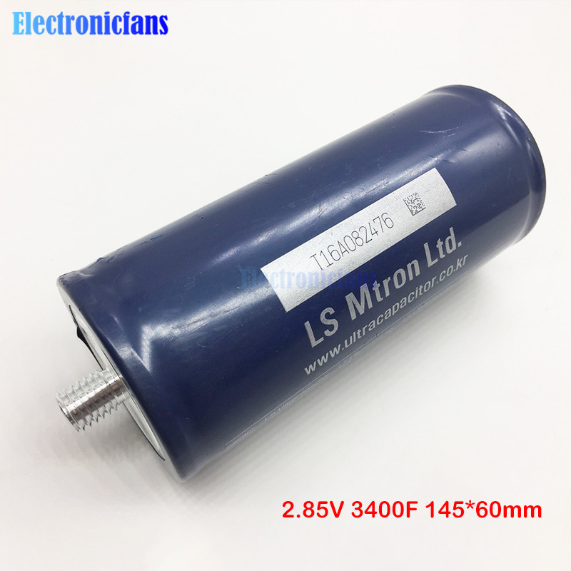 Super Farad Capacitor 2.85V 3400F 145*60mm 2.85V3400F Low ESR High Frequency Ultracapacitor Automotive Module Power Supply