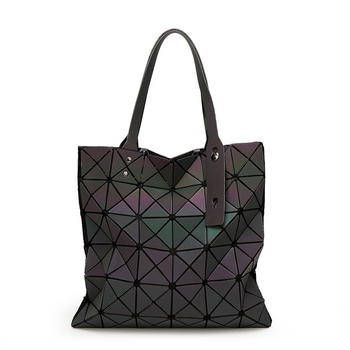 YUTUO Women Luminous Bags Handbags Luxury Handbags Women Bag Designer Plain Folding Women Crossbody Shoulder Bag bolsos