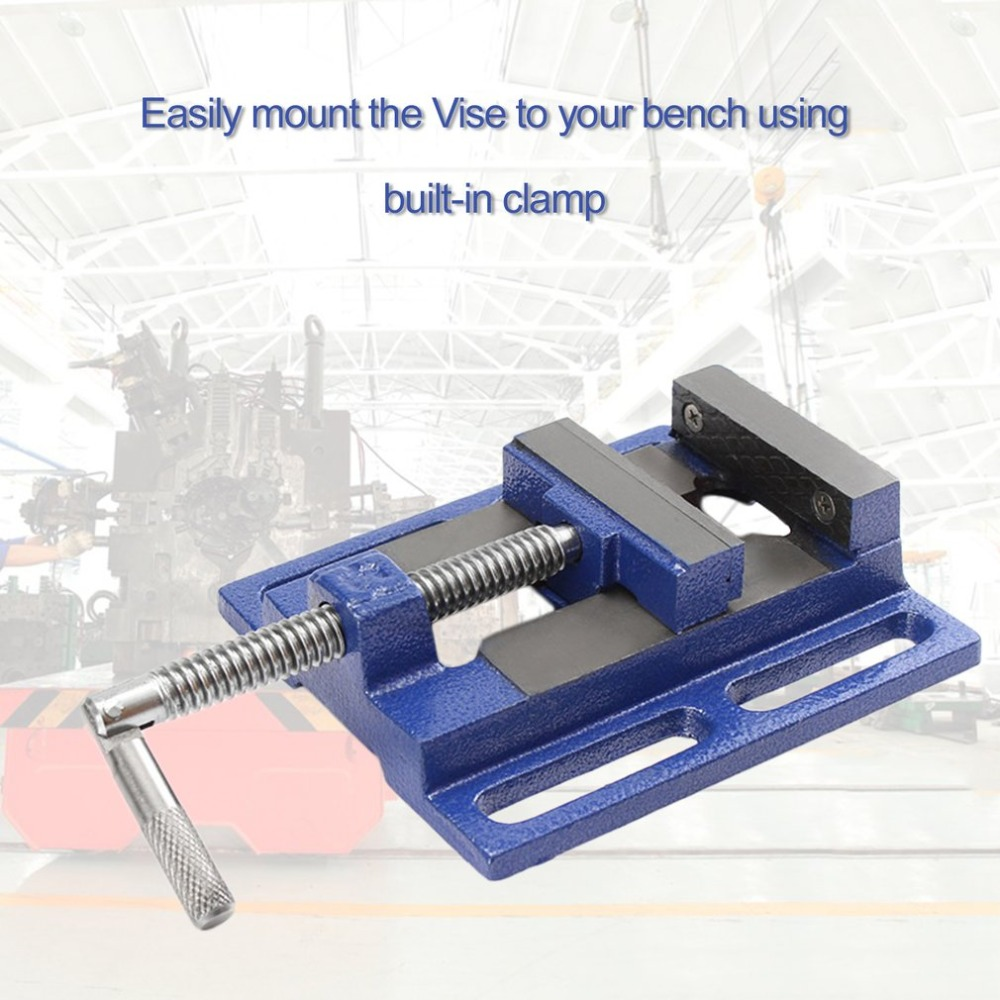 High Precision Clamp-on Table Flat Bench Vise Milling Machine Bench Drill Vise Aluminum Alloy Firmly Hand Tools 2 5 inch bench vise table flat clamp on plier drilling press milling machine clamping clamp firmly woodworking hand tool