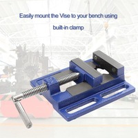 High Precision Clamp on Table Flat Bench Vise Milling Machine Bench Drill Vise Aluminum Alloy Firmly Hand Tools