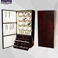 Dobadoura do relógio de madeira de luxo gabinete 12 relógio Automático carretel enrolador Motores JAPÃO relógio e Jóias exibição de armazenamento com gavetas