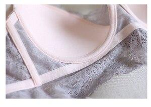 Image 5 - Sexy Mousse Borduurwerk Dunne Cup Strap Bras Ondergoed 2017 Mode Push ap Bras en Panty Set Voor Vrouwen