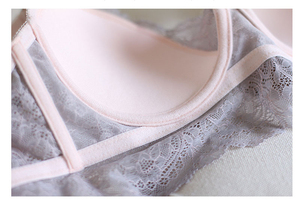 Image 5 - Sexy Mousse Embroidery Thin Cup Strap Bras Underwear 2017 Fashion Push ap Bras and Panty Set For Women