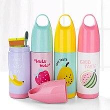 Портативная зубная щетка для путешествий, коробка для хранения, милый фруктовый узор, контейнер для зубных щеток с крышкой, чехол, аксессуары для путешествий