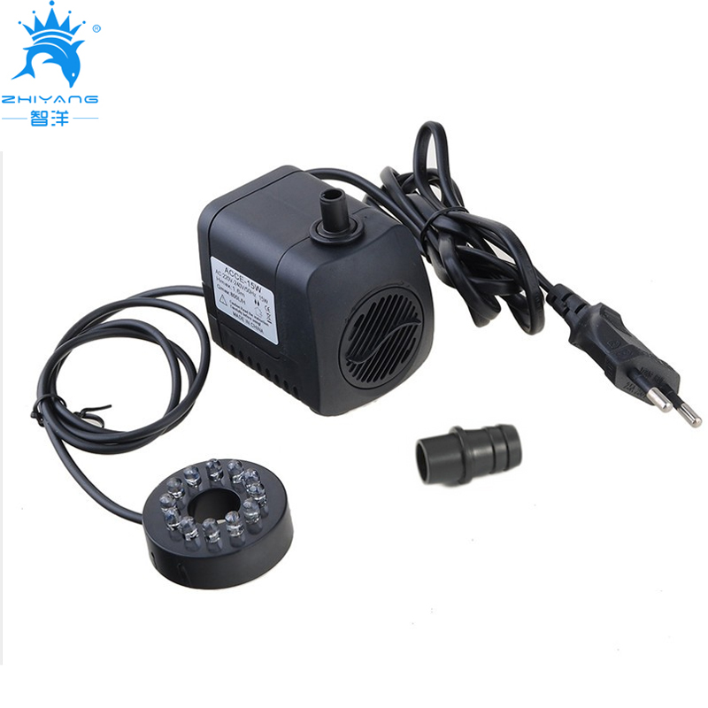 220V 240V 15W 800L/H submersible water pump Fountain pump Fish Tank Aquarium Pump with 12 color change LED Light EU UK SAA plug
