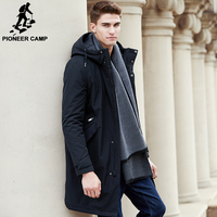 Pioneer Camp New Arrival Thicken Cotton Winter Jacket Men Brand Clothing Long Winter Coat Male Top