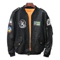 Motorcycle Real Leather Jacket Men 2018 100% Natural Sheep Skin Red Black Color Genuine Leather Jacket Pilot Bomber Basic Coat
