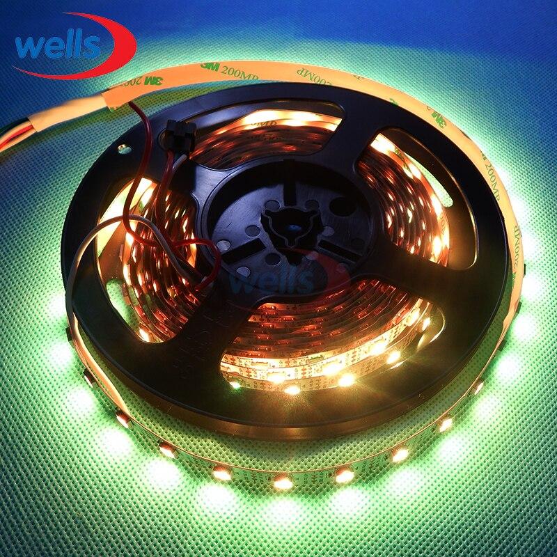 50 м 10X5 м 60 пикс./м индивидуально адресуемых WS2812B WS2811 5050 RGB Светодиодные ленты 5 V белый/черный не обладает водонепроницаемостью: - 4