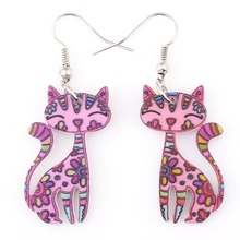 Beautiful acrylic Bonsny Cat Earrings