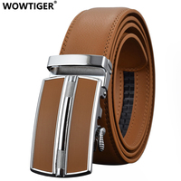 REGITWOW Men S Fashion Automatic Buckle Leather Luxury Tactical Belts Business Alloy Buckle Belts For Men
