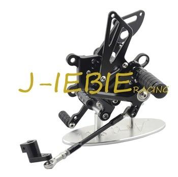 CNC Racing Rearset Adjustable Rear Sets Foot pegs Fit For Aprilia RSV4 RSV4R Tuono V4 R  2009-2016 BLACK