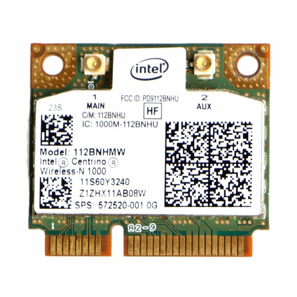 Intel Centrino Wireless-N 1000 802.11 b/g/n 112BNHMW Half Mini PCI-E Wifi Card(China)