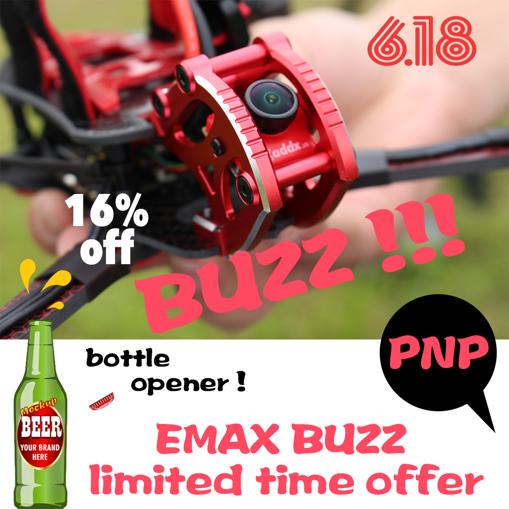 Official EMAX BUZZ Freestyle Racing Drone PNP 1700kv /2400kv Motor 4-6s Frsky  Frame kit Quadcopte FPV Camera For  Rc Airplane