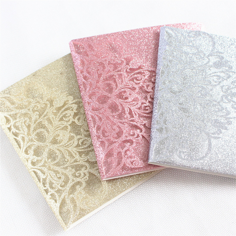 Luxury Invitations Wedding Cards With Belly Band Envelop Rose