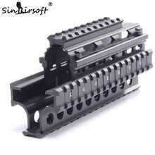 Yugo M70 AK Quad Rail Handguard for Laser Dot Sights Riflescope Mount V-cut for Co-witness with Iron Sights MTU011