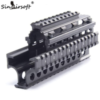 Yugo M70 AK Quad Rail Handguard for Laser Dot Sights Riflescope Mount V cut for Co witness with Iron Sights MTU011